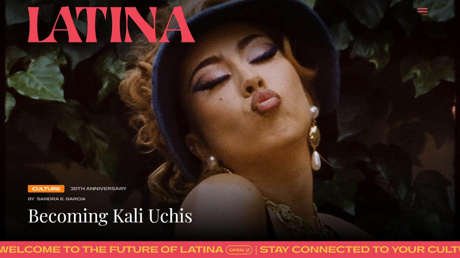 Screen shot of Latina
