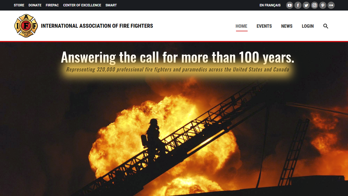 Screen shot of IAFF